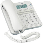 AT&T - CL2909 Corded Phone with Speakerphone - White
