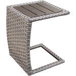 TK Classics Oasis Side Table, Grey Stone