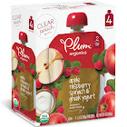 Plum Organics Baby Food, Organic, Raspberry, Spinach & Greek Yogurt, 2 (6 Months & Up) - 4 pack, 3.5 oz pouches