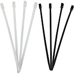 """20-piece Set 8"""" Re-sealable Wire Ties, Black/ White"""