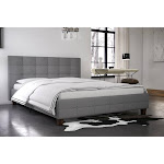 RealRooms Rima Upholstered Bed, Full , Grey Linen