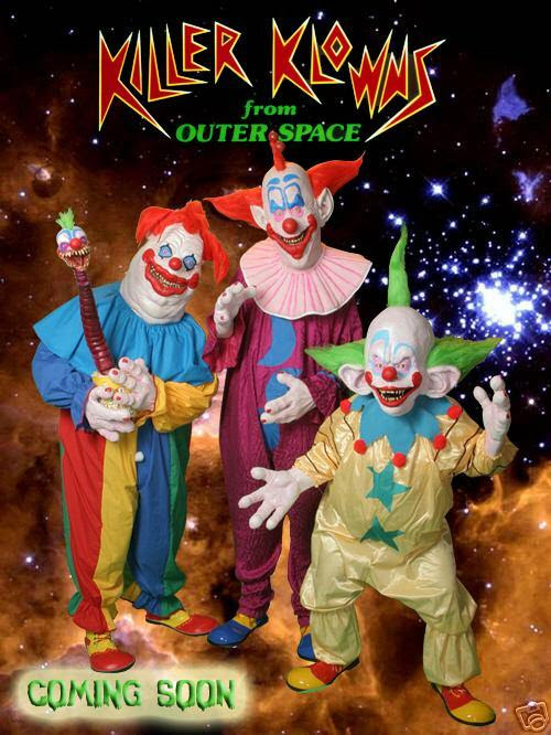 Killer Klowns From Outer Space Wallpaper Black