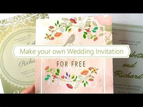 Make Your Own Wedding Invitation for FREE   3 Design Ideas