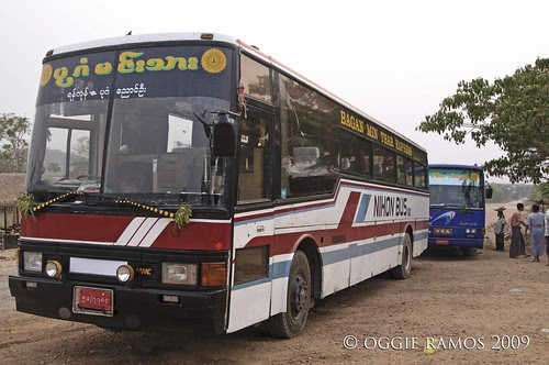 myanmar bagan bus