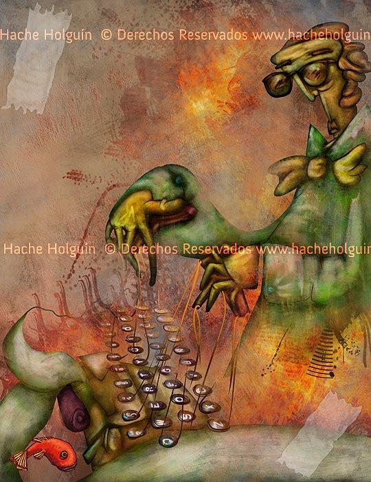 Ilustración: literatura por Hache Holguín