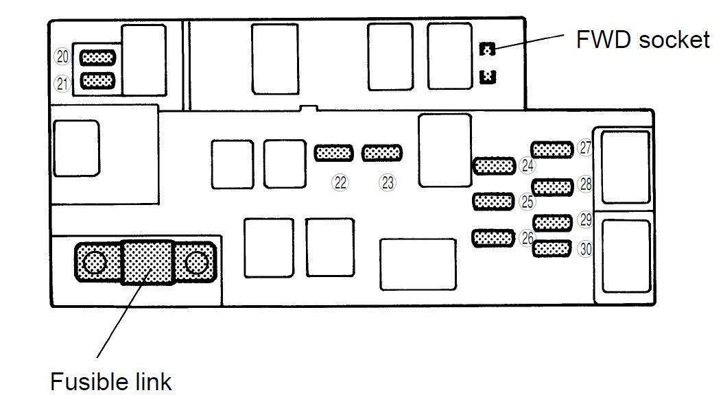 1998 Subaru Fuse Box Diagram