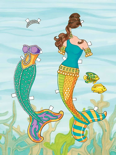 mermaid under water free paper doll 2
