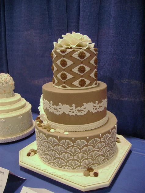 Taupe Wedding Cake   CakeCentral.com