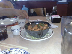 Chicken and Basil at Joes Noodle House at Rockville