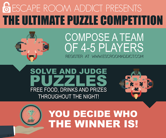 Events - Introducing ERA's Ultimate Puzzle Competition! - Esc Room Addict