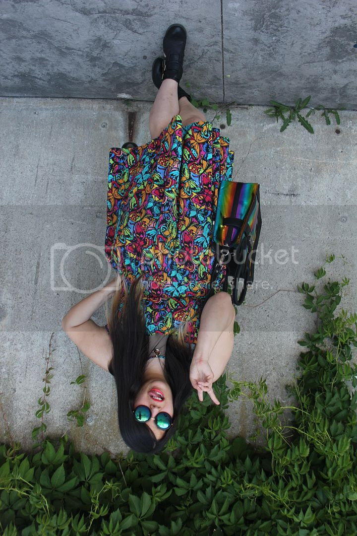 plus size fashion canada toronto plus size blogger jessica ip clothes and shit plus size butterfly dress iridescent rainbow purse