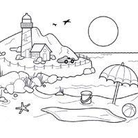 тхесе: раскраска на морскую тему