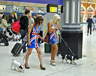 The Royal Wedding - Apr 2011 - Party Goers at Victoria Station