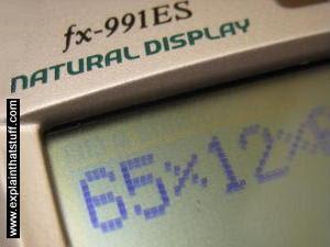 Tela LCD calculadora