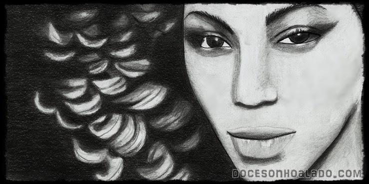 """Homenagem de """"Quinta"""" Beyoncé Ego desenho"""