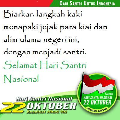 kata ucapan selamat hari santri nasional  oktober