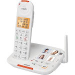 VTech - SN5147 Amplified DECT 6.0 Expandable Cordless Phone System with Digital Answering System - White