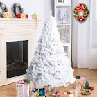 Gymax 5Ft Artificial PVC Chrismas Tree W/Stand Holiday Season Indoor Outdoor White
