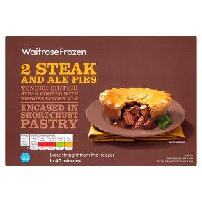 Waitrose frozen steak & ale pies - Waitrose