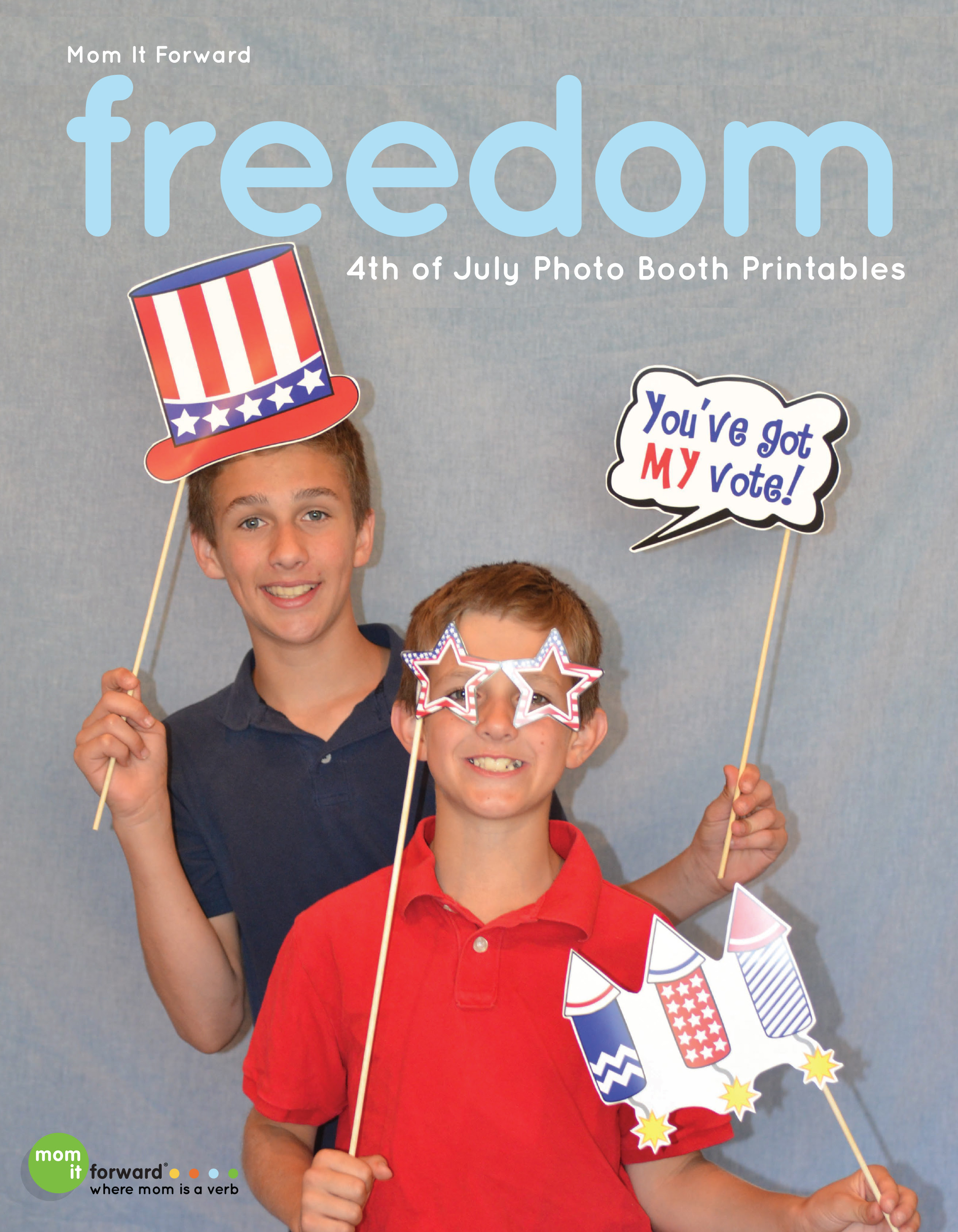 Photo Prop 4th Of July Printable Photo Props Mom It Forwardmom It