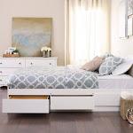 Prepac Monterey 6-Drawer Platform Storage Bed, White, Queen