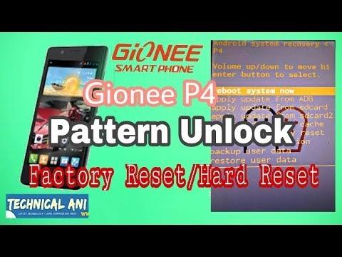 Gionee p4 hard reset unlock  Pattern Unlock of Gionee P4