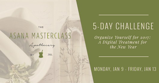 Join Organize Yourself for 2017: A Digital Treatment for the New Year - Asana Masterclass