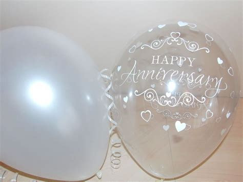 30th Pearl Printed WEDDING ANNIVERSARY Balloons / Party