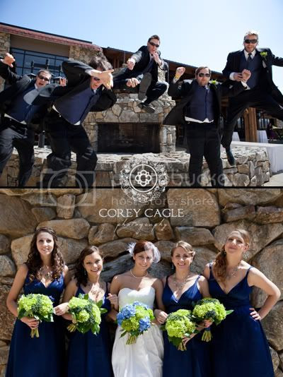 Bridal Party fun at Grove Park Inn, Grove Park Inn wedding bridal party having fun
