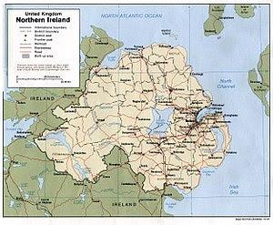 Map of Northern Ireland.