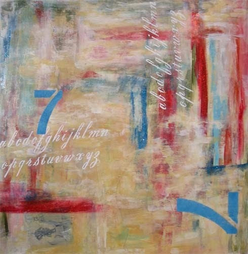 Abstract 77------LARGE Original Painting
