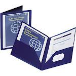 Oxford ViewFolio Polypropylene Portfolio, Blue/Clear, 50 Sheet