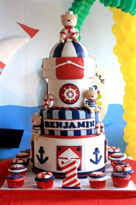 Kara's Party Ideas Sailor Bear Birthday Party Planning