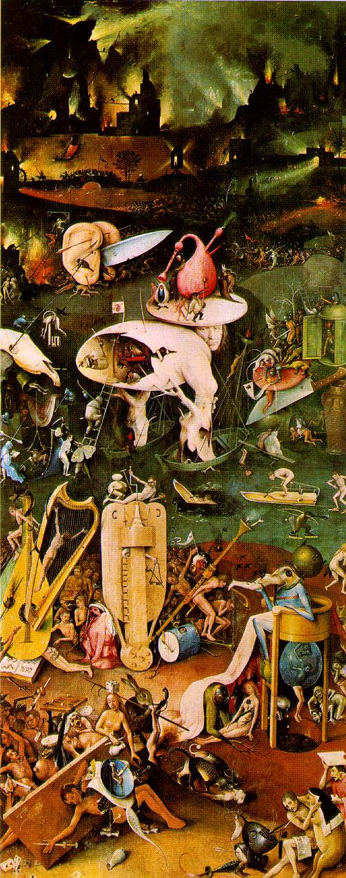 jeroen bosch, garden of earthly delights, right panel