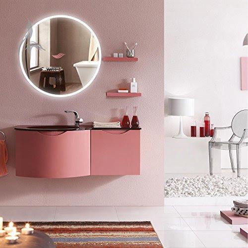 runder bad spiegel led beleuchtet cottbus 60cm rund