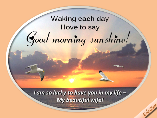 Good Morning My Beautiful Wife Free Good Morning Ecards Greeting