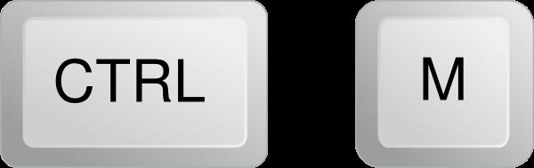 Ctrl + M = ضغط الصفحة إلى اليسار .
