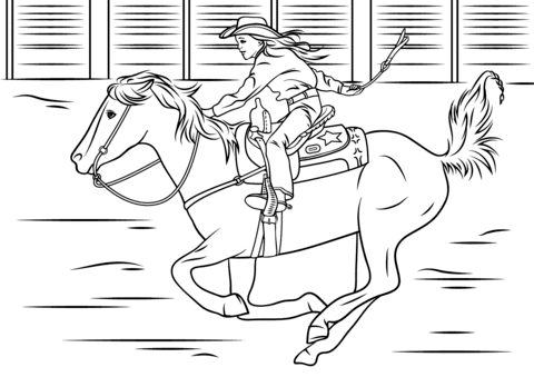 Trends For People Riding Horses Coloring Pages Anyoneforanyateam