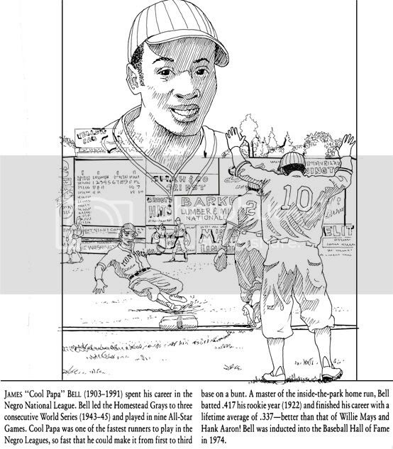 every month is black history month  black history coloring pages  henry aaron  cool papa bell