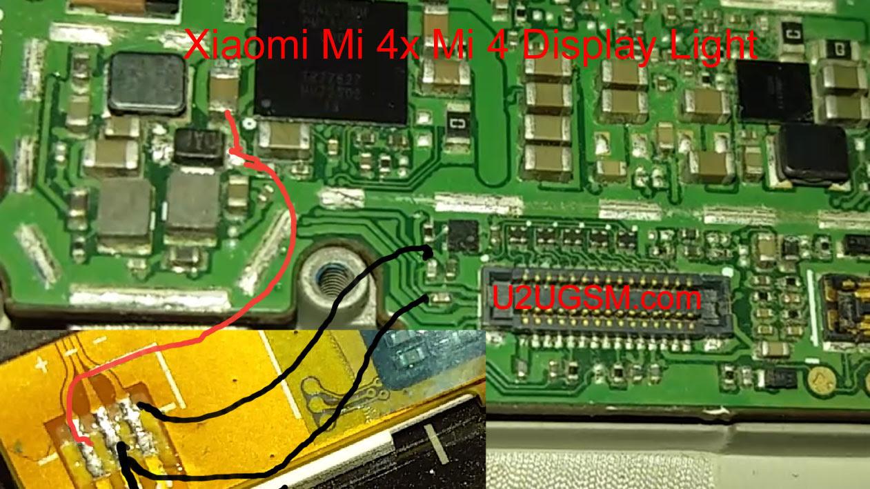 Xiaomi Mi 4x Mi 4 Cell Phone Screen Repair Light Problem Solution Jumper Ways