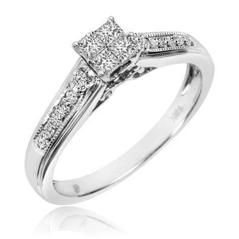 1/3 Carat T.W. Diamond Ladies' Bridal Wedding Ring Set 10K