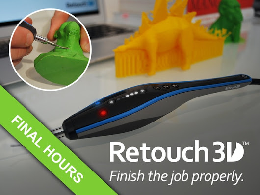 Retouch3D: A brand new way to finish 3D prints.