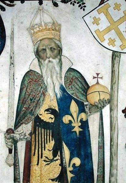 Painting of Charlemagne by Jaquerio.