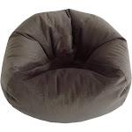 Large Textured Velvet Bean Bag Chair in Pewter