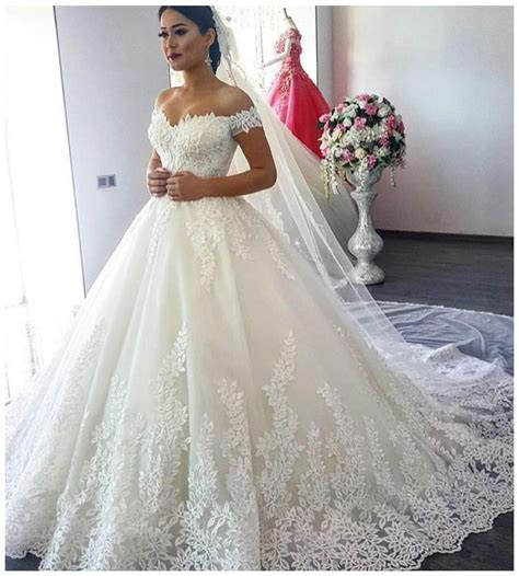 Off White Wedding Dresses,Modest Bridal Gown,Ball Gown
