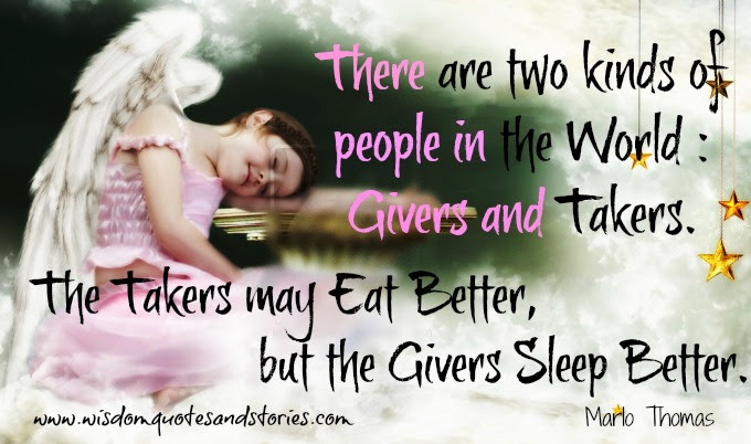 Givers And Takers Wisdom Quotes Stories