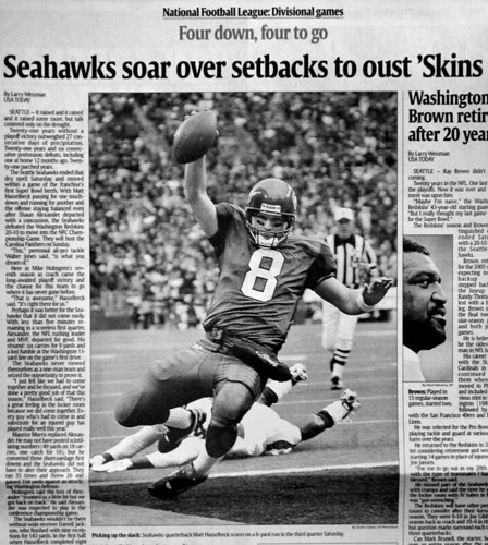 Hasselbeck shot in USA TODAY