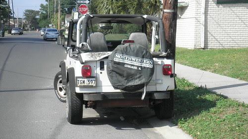 Jeep on Dublin LA Plates