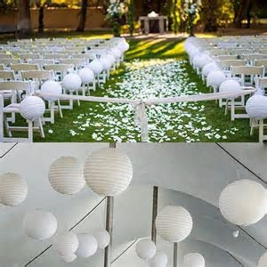 "Snow White   12x 12"" Chinese Round Sky Paper Lanterns Lamp"