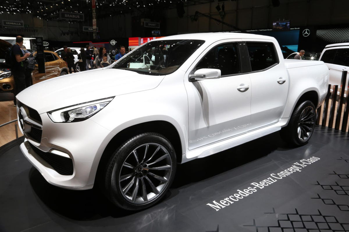 ... The new X-Class pickup truck, ...